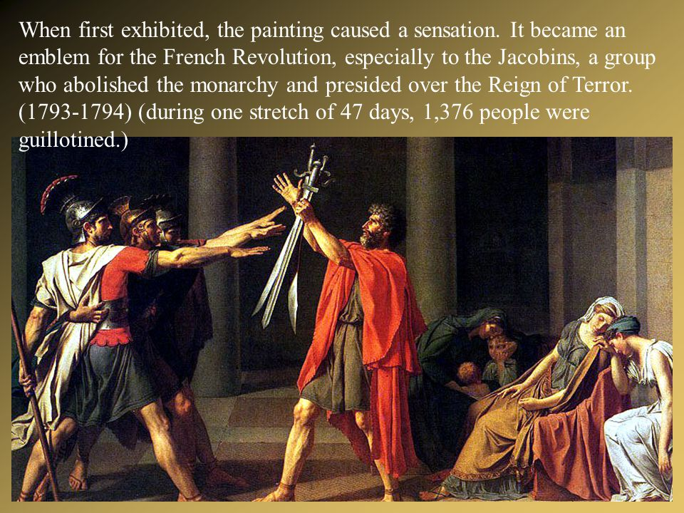 When first exhibited, the painting caused a sensation.