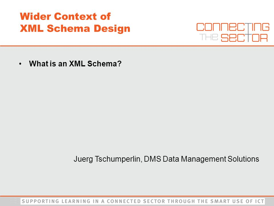 What is an XML Schema.A schema is a way to describe and validate data in an XML environment.
