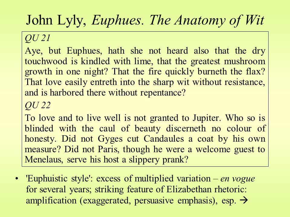 John Lyly, Euphues.
