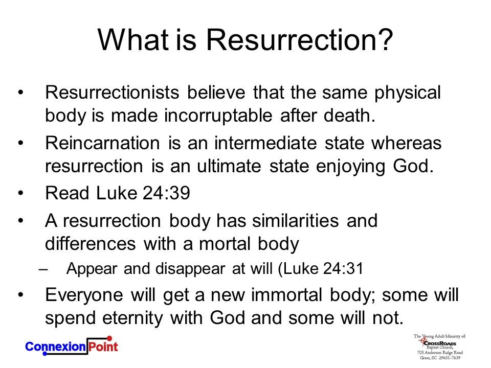 What is Resurrection.