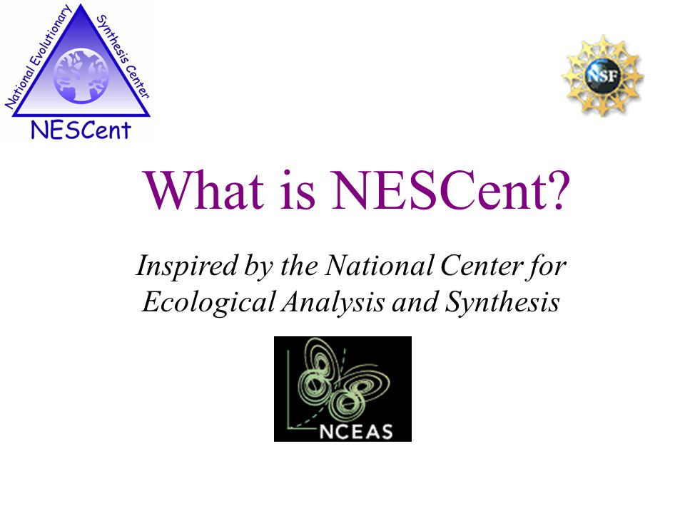 Inspired by the National Center for Ecological Analysis and Synthesis What is NESCent?