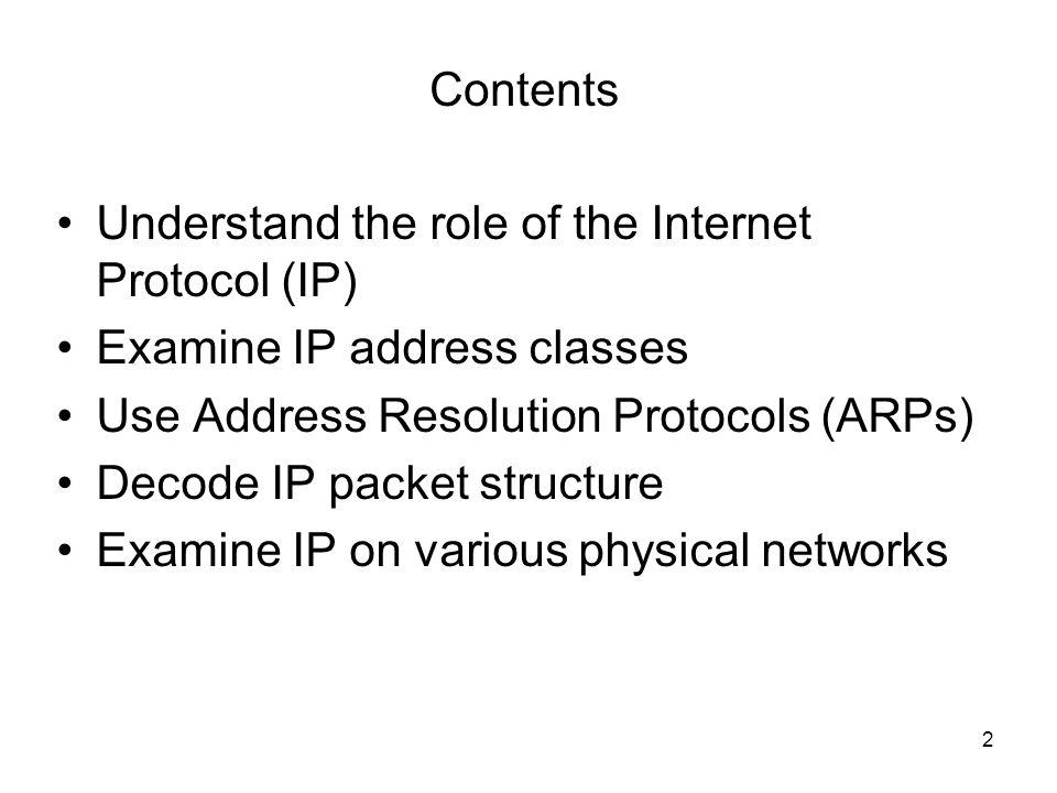 3 The Internet Protocol