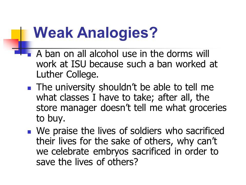 Weak Analogies.