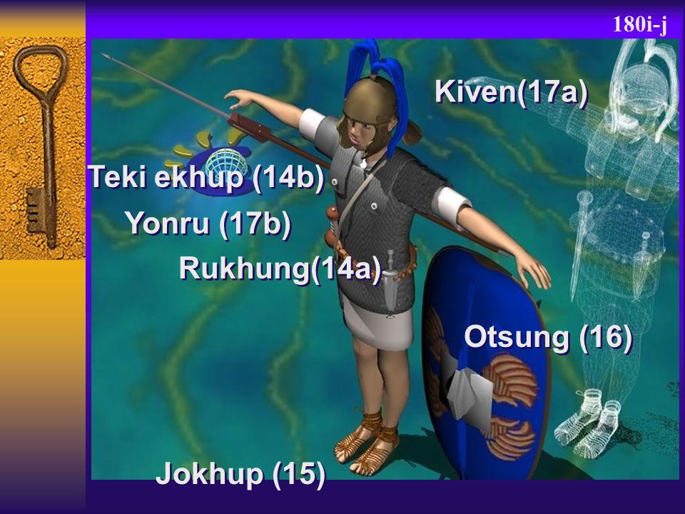 180i-j Kiven(17a) Teki ekhup (14b) Rukhung(14a) Jokhup (15) Otsung (16) Yonru (17b)