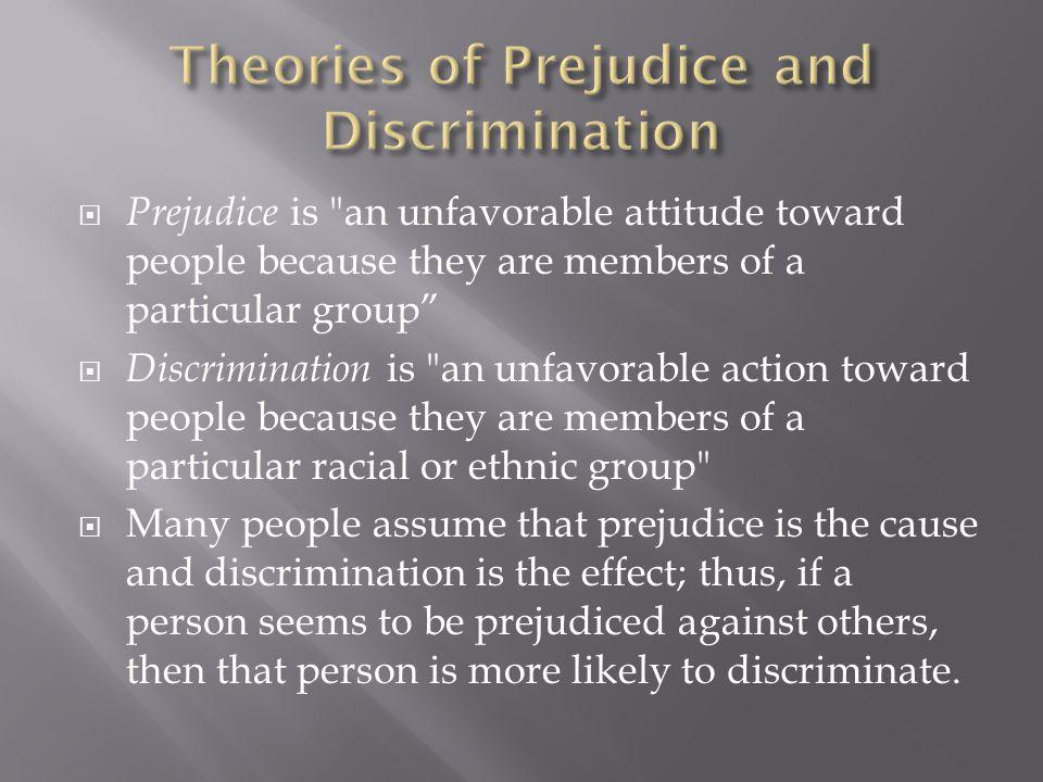  Prejudice is