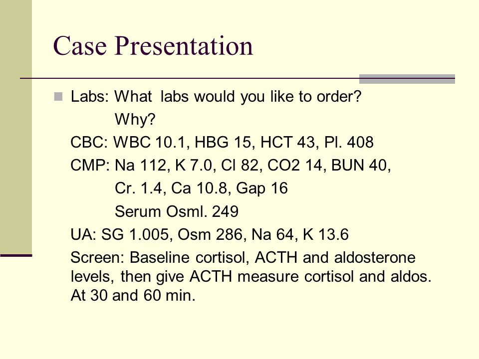 Case Presentation With info provide what is your Dx.