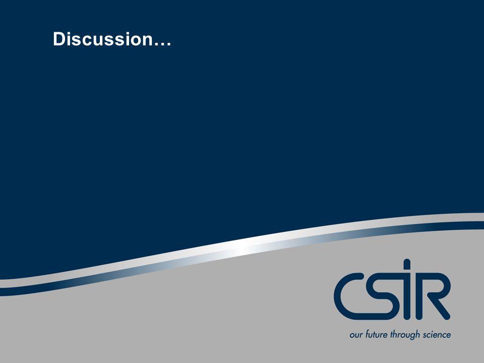 Slide 28 © CSIR 2006 www.csir.co.za Discussion…