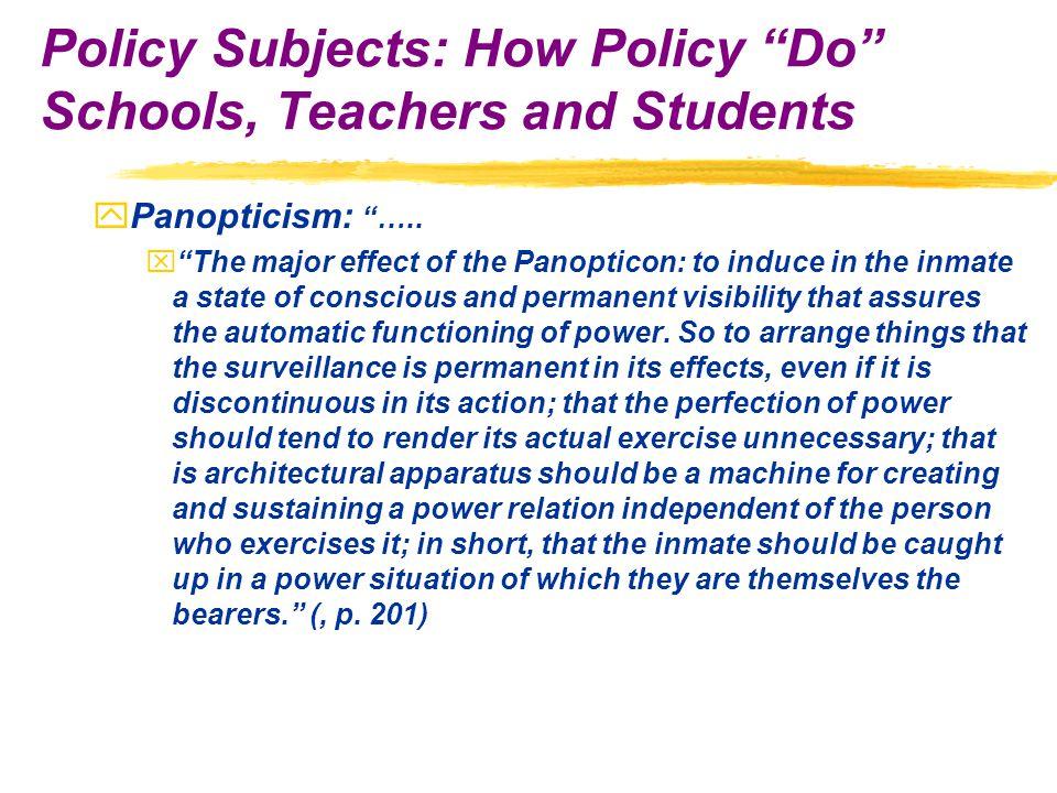 yPanopticism: …..