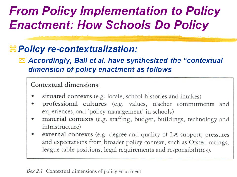 zPolicy re-contextualization: yAccordingly, Ball et al.