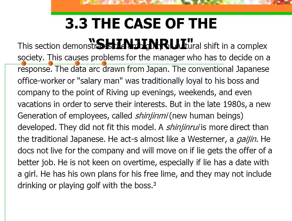 "3.3 THE CASE OF THE ""SHINJINRUI"