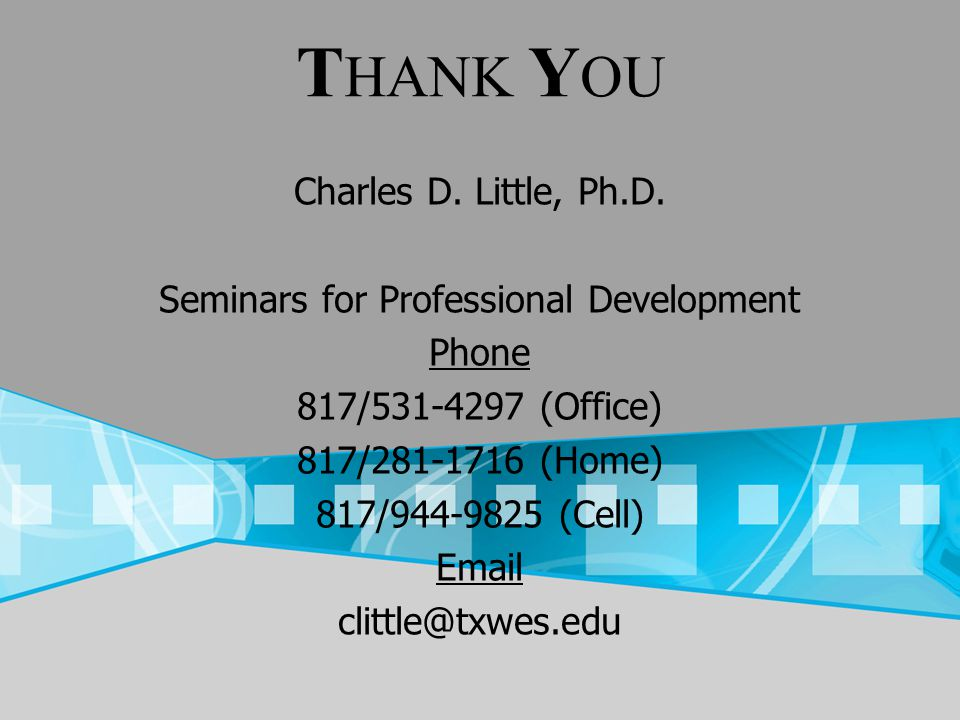 Charles D.Little, Ph.D.