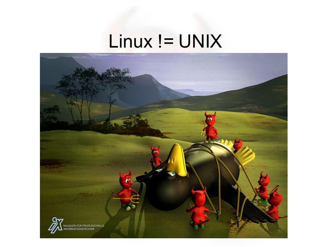 Linux != UNIX