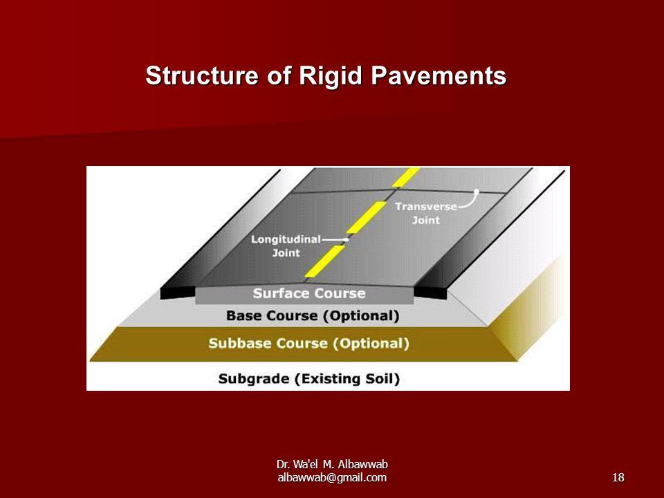 Dr. Wa el M. Albawwab albawwab@gmail.com18 Structure of Rigid Pavements