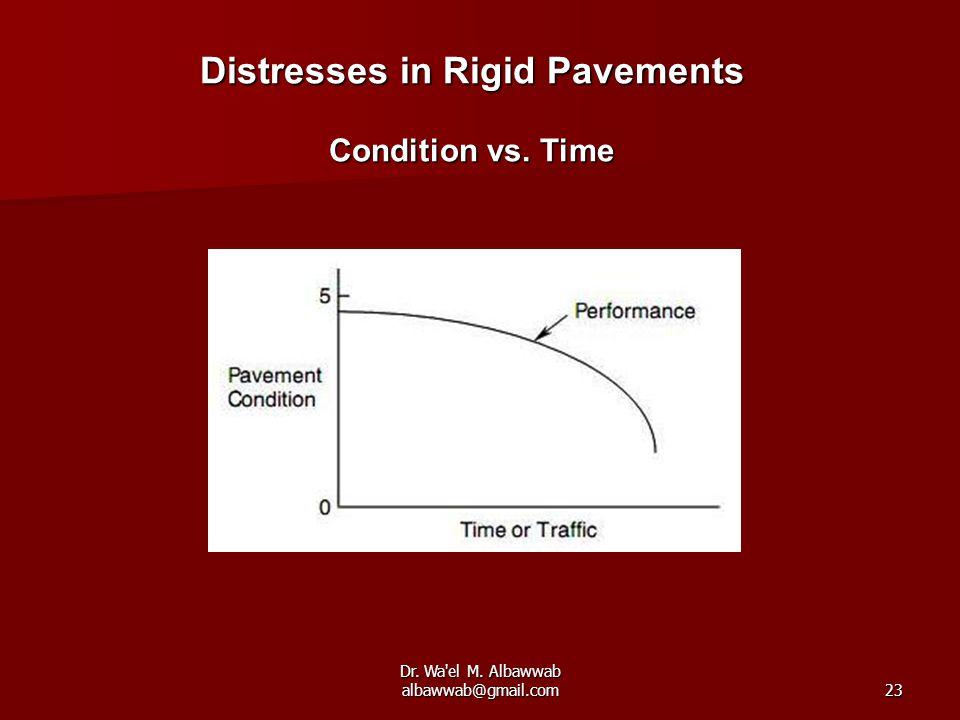 Dr. Wa el M. Albawwab albawwab@gmail.com23 Distresses in Rigid Pavements Condition vs. Time