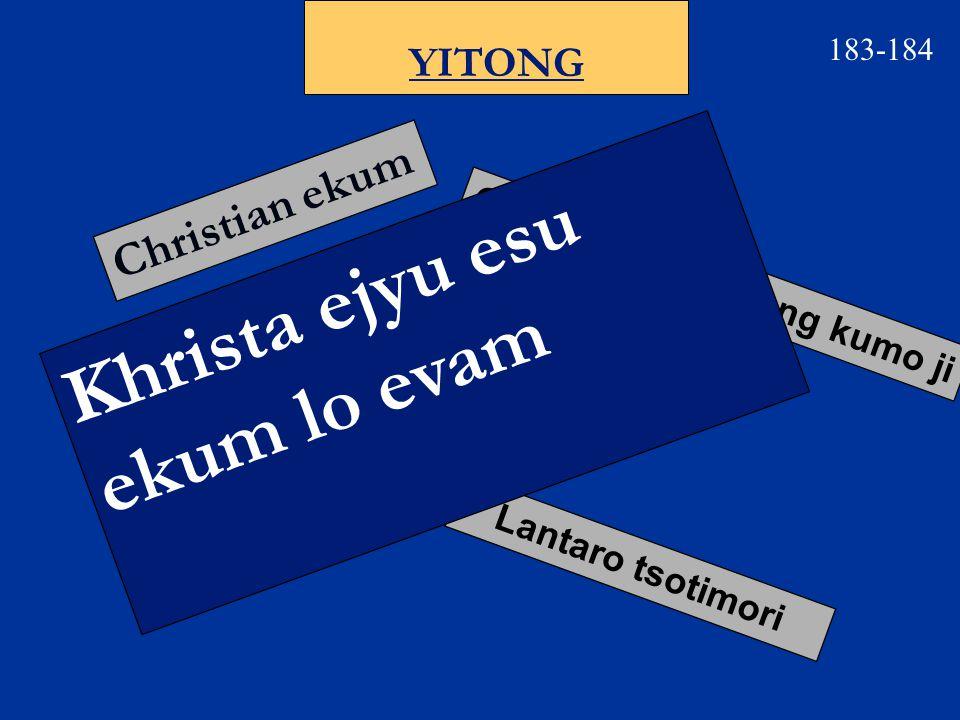 183 Etssophyolan Chapter 1 Chapter 2 Chapter 3 Chapter 4 Oyam nzan eju 1:82:29 Ntsa-ntho tokala 1:1, 10-11 3:94:21 Lum tssonka 2:19 Ombo ntsuo ntsinran 3:8, 10 Potsow pfutson tokala 1:11 Kianzan piala 1:2 4:23 lumbum emi apiala 2:1 Thanpo jiang lumpbum emi piala 2:1 Elhi jilo tumka opvu 2:16 Ekhum piala 1:21 Tssochekhamo etho 4:13 Lum epuk osi ematha apiala 1:18, 262:293:1 4:4, 10-13 Lumbum etsson 1:13-142:19, 24 4:1, 19 Noying 4:2, 7 Ejan ezup 1:13, 29 3:10 Yantaso 1:21, 23 3:7-8, 14 Eyingro osi emiro ekum 2:5 Mmyantatokala 1:15-172:1-2 4:21-22 Otsuk ethan (phantilan) 3:11, 21 Khrista esua 1:20, 272:53:10-14 CHRISTA JI OPON TSSOTOKALA PHILIPI SHILO