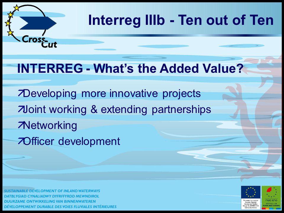 Interreg IIIb - Ten out of Ten INTERREG - What's the Added Value.