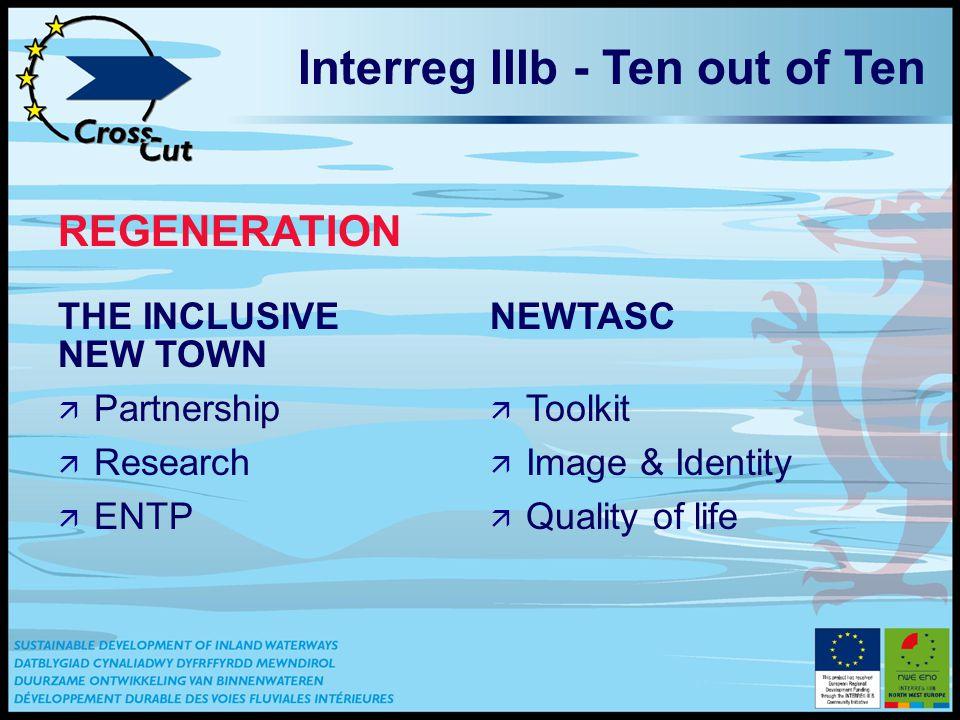 THE INCLUSIVE NEW TOWN ä Partnership ä Research ä ENTP NEWTASC ä Toolkit ä Image & Identity ä Quality of life Interreg IIIb - Ten out of Ten REGENERATION