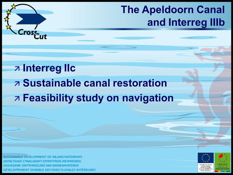 The Apeldoorn Canal and Interreg IIIb ä Interreg IIc ä Sustainable canal restoration ä Feasibility study on navigation