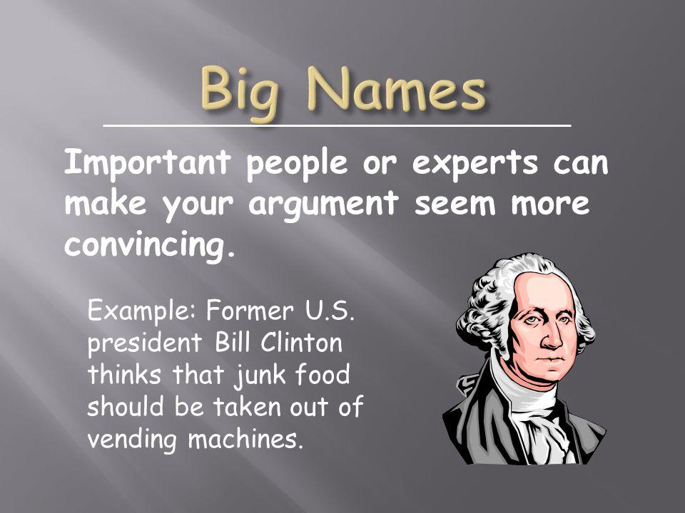 Example: Former U.S.