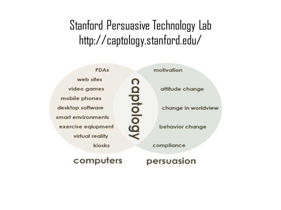 Stanford Persuasive Technology Lab http://captology.stanford.edu/