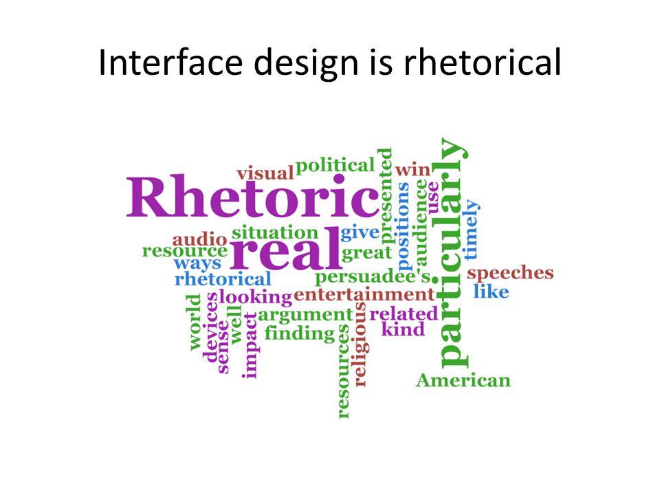 Interface design is rhetorical