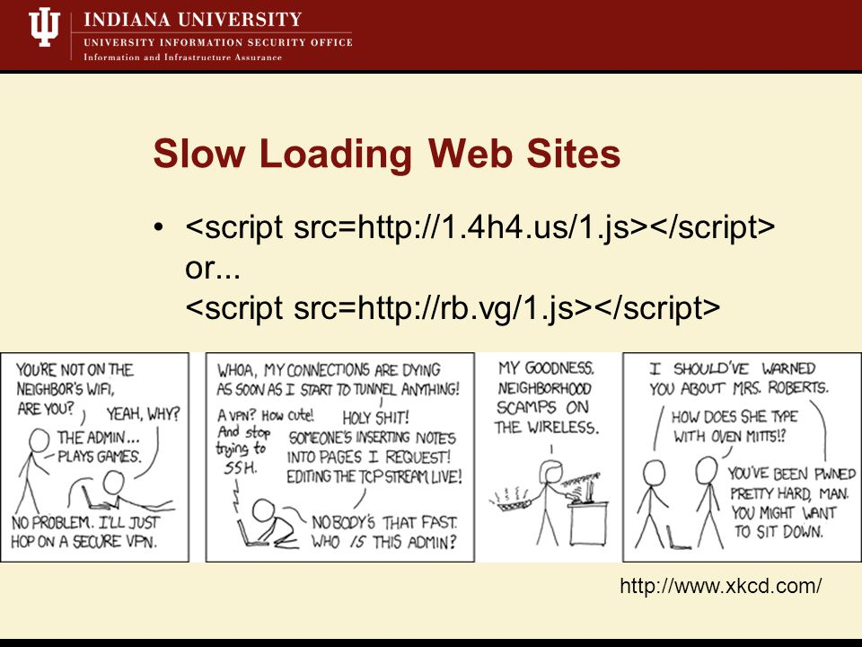 Slow Loading Web Sites or... http://www.xkcd.com/