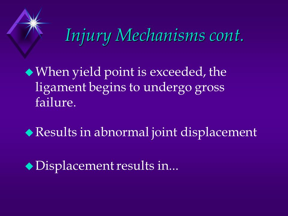 Injury Mechanisms cont.