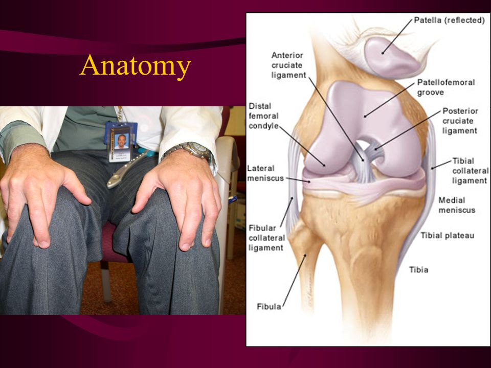 PCL INJURIES Mechanism –Sports = fall on flexed knee with foot plantarflexed, hyperextension, pivot –MVA = dashboard injury Effusion (less than with ACL) Shifting/instability (chronic) Less distinctive