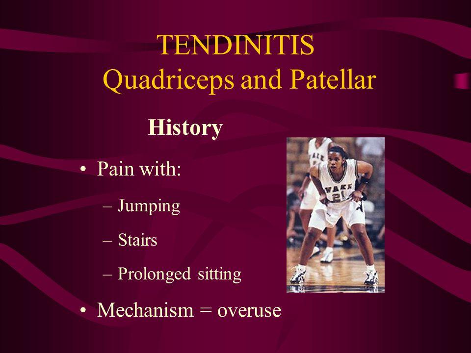Assorted Knee Problems Osgood-Schlatter Syndrome Patellar, Quad Tendinitis Plica Iliotibial Band Syndrome Discoid Meniscus Osteoarthritis Osteochondritis dessicans (OCD)