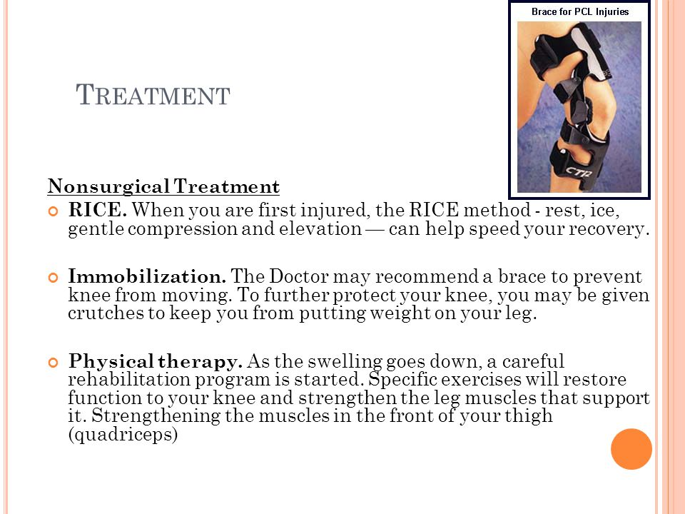 T REATMENT Nonsurgical Treatment RICE.