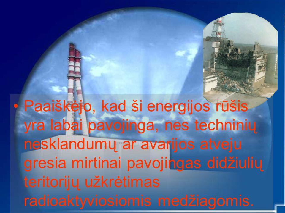Tačiau naftos ir dujų atsargos mažėja, o jų gavyba darosi vis sunkesnė ir brangesnė, todėl žmonės toliau ieško naujų energijos šaltinių.