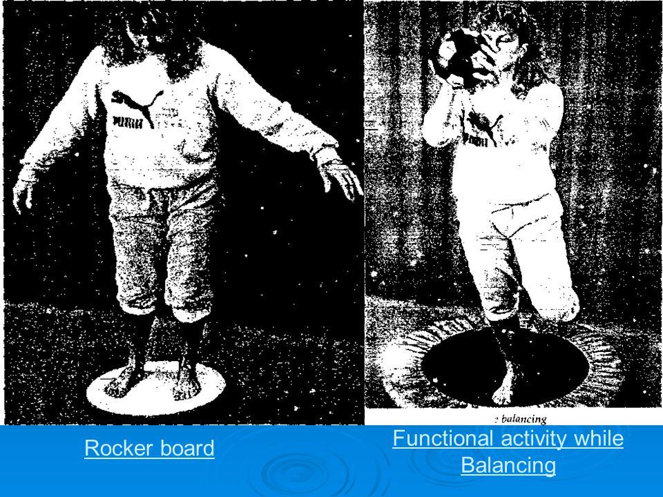 Rocker board Functional activity while Balancing