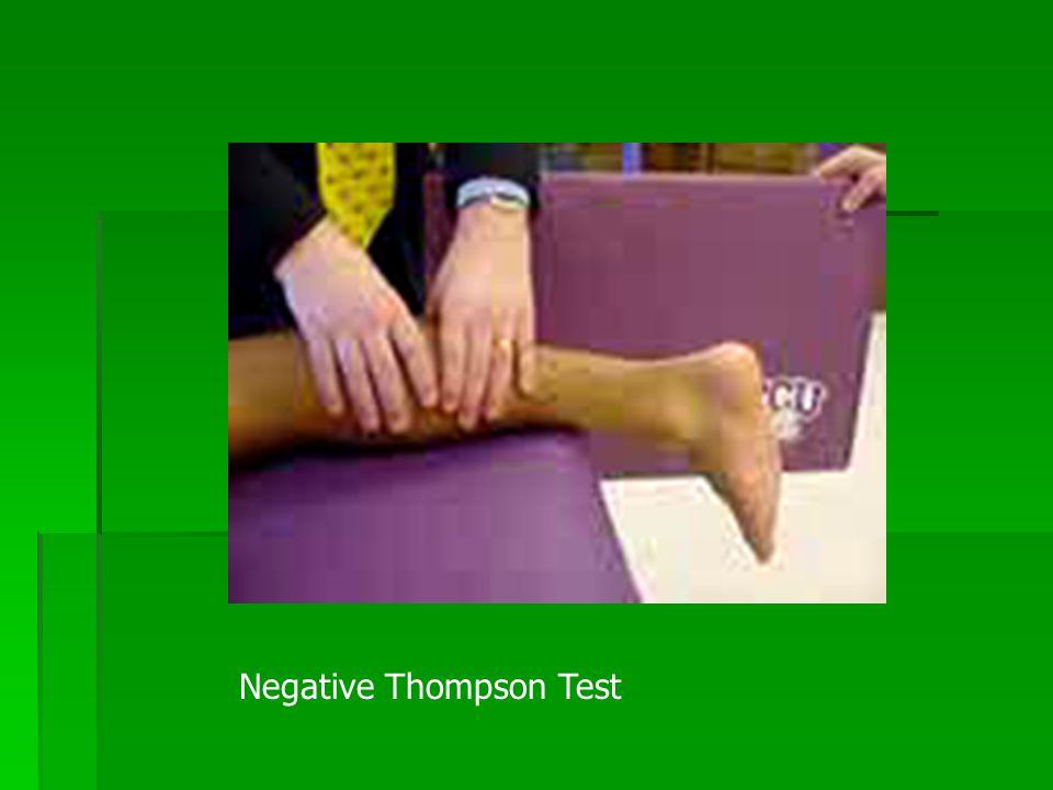 Negative Thompson Test