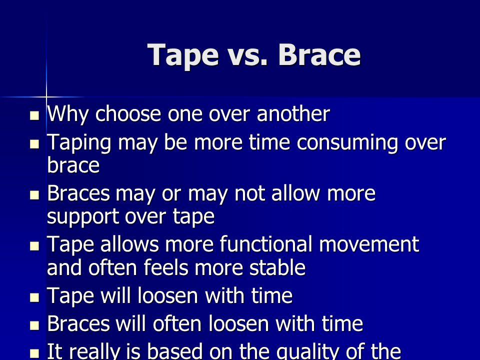Tape vs.