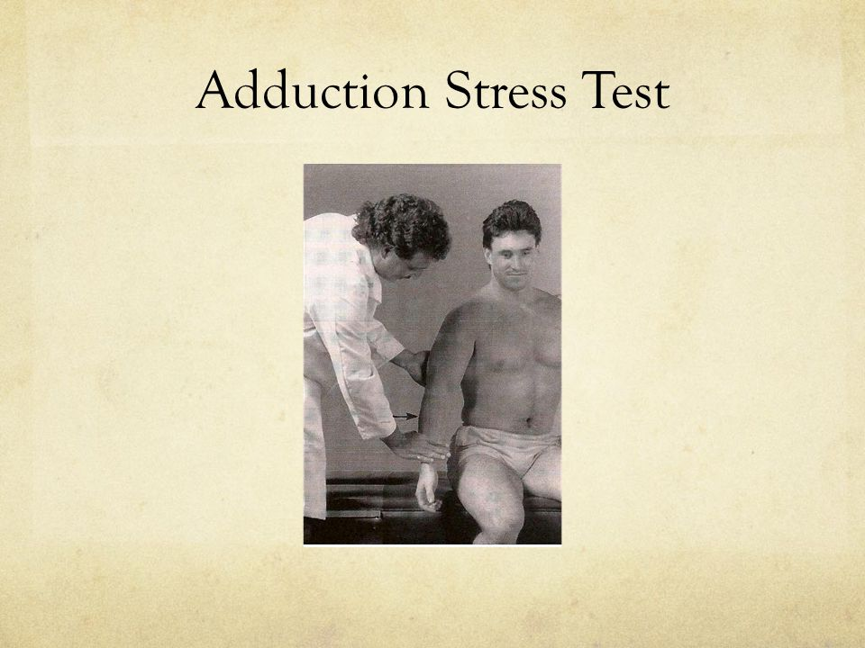 Adduction Stress Test