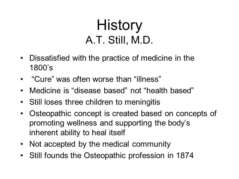 History A.T. Still, M.D.