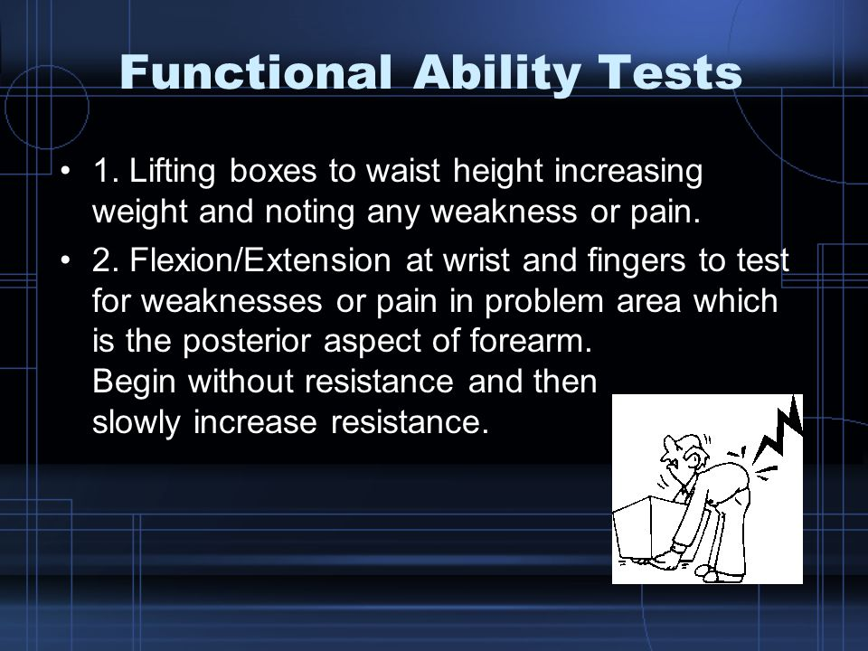 Functional Ability Tests 1.