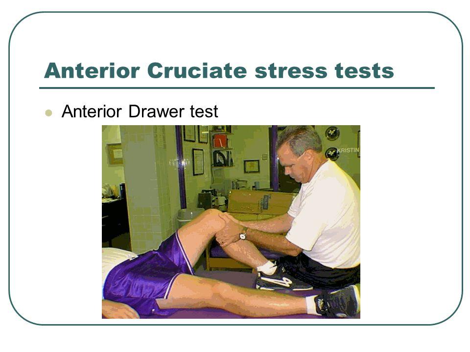 Anterior Cruciate stress tests Anterior Drawer test