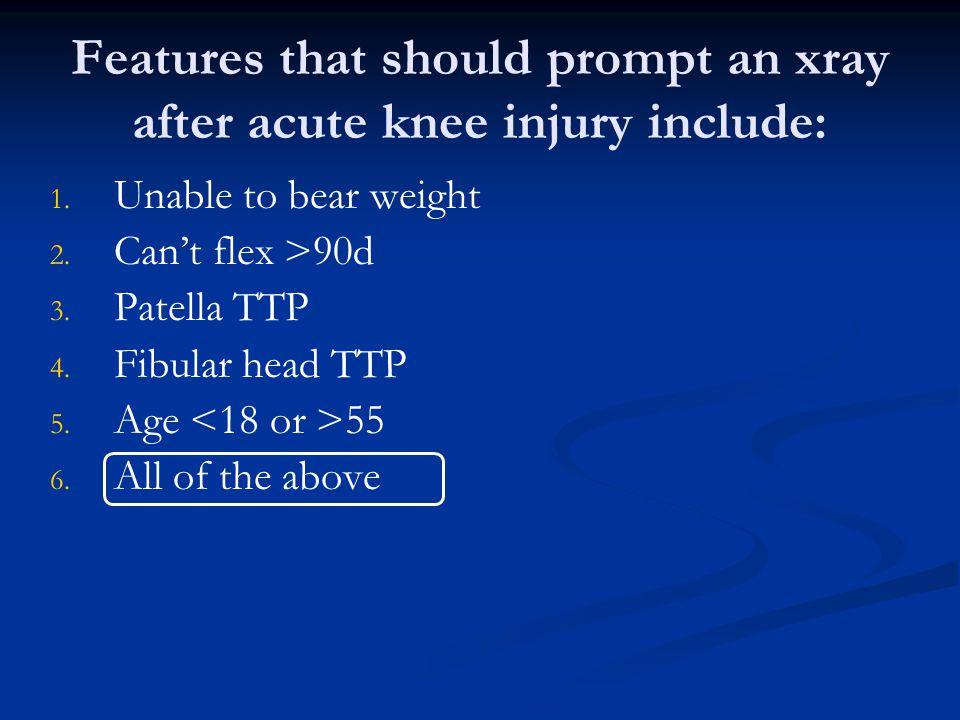 Anterior Cruciate Ligament Injury Half occur with medial meniscal tear Half occur with medial meniscal tear Can occur with MCL tear Can occur with MCL