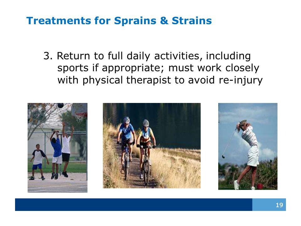 Treatments for Sprains & Strains 19 3.