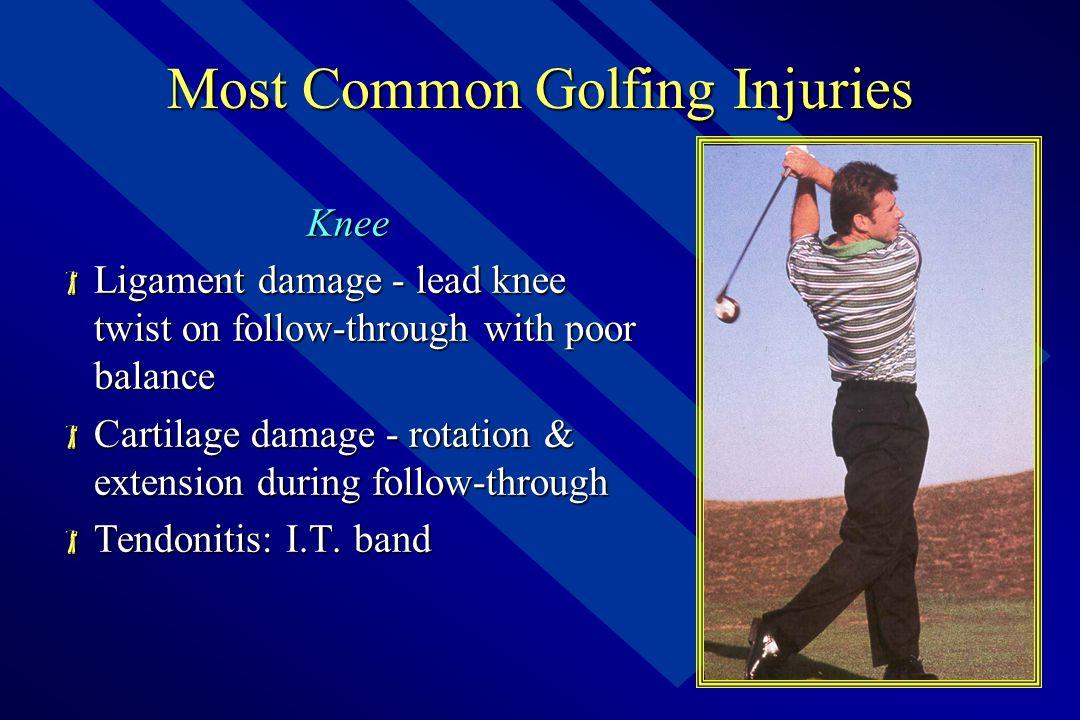 Anatomy of Golf – Thigh  Femur and Patella  Quads, HS, ADD, ABD  Motions include;  Flexion – Extension  ABD – ADD  Patellar Alignment