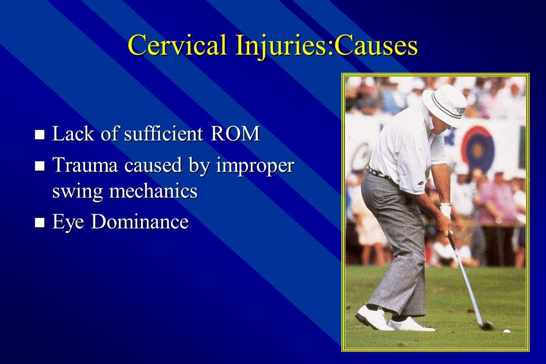 Anatomy of Golf – Cervical Spine  Seven Cervical Vertebrea  Spinal muscles  Motions Include;  Flexion  Extension  Side Bend (L&R)  Rotation (L&R)