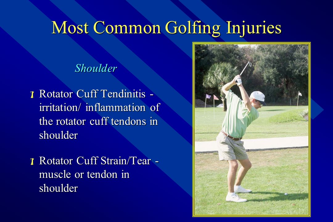 Anatomy of Golf – Shoulder  Gleno-humeral Joint  Primary movers (pec, delt, lats)  Stabilizers / RTC mm's  Motions include;  Flexion – Extension  ABDuction – ADDuction  Horizontal ABD – ADD  External – Internal Rotation  Circumduction