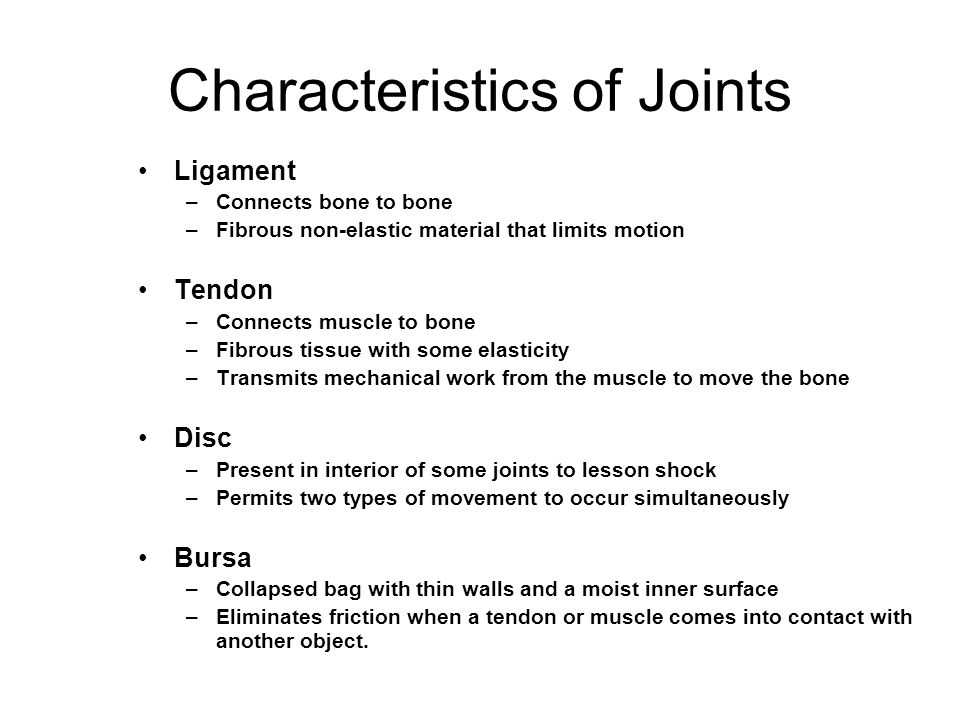 Types of Synovial Joints There are three basic types of synovial joints: –unilateral (rotation only about one axis) –biaxial joints (movement about two perpendicular axes) –multiaxial joints (movement about all three perpendicular axes)