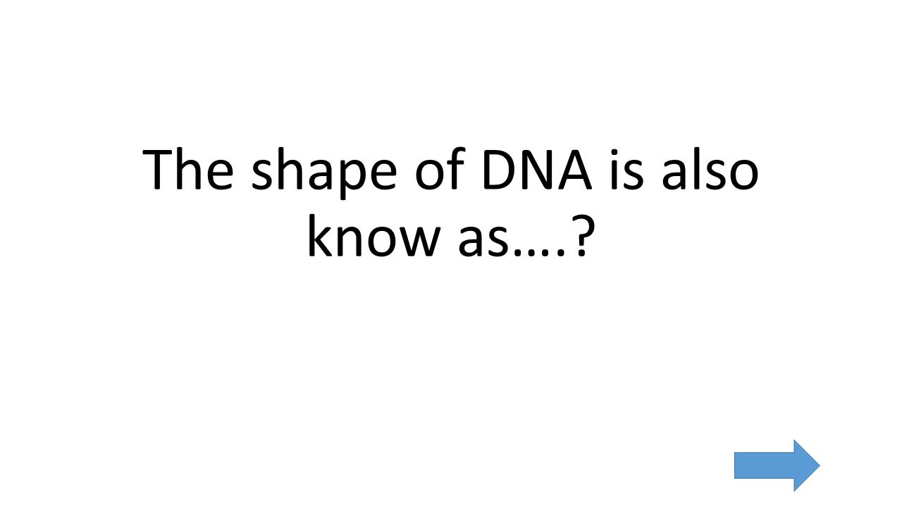 The shape of DNA is also know as….
