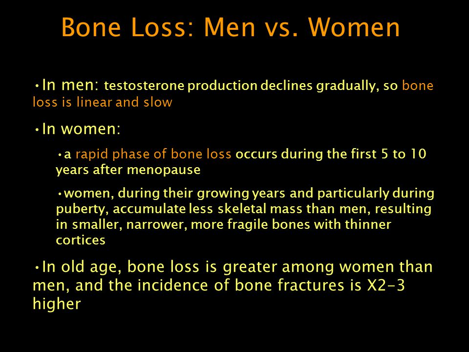 Bone Loss: Men vs.