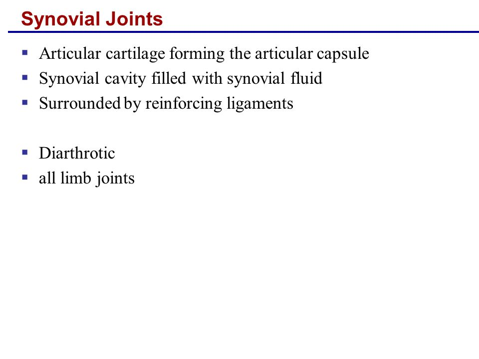 Synovial Joints: General Structure Figure 8.3a, b