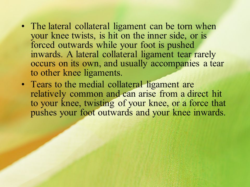 Cruciate ligaments The cruciate ligaments are short strong bands of fibrous tissue that cross each other inside your knee joint and join your tibia to your femur.