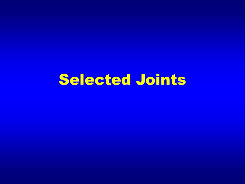 Selected Joints