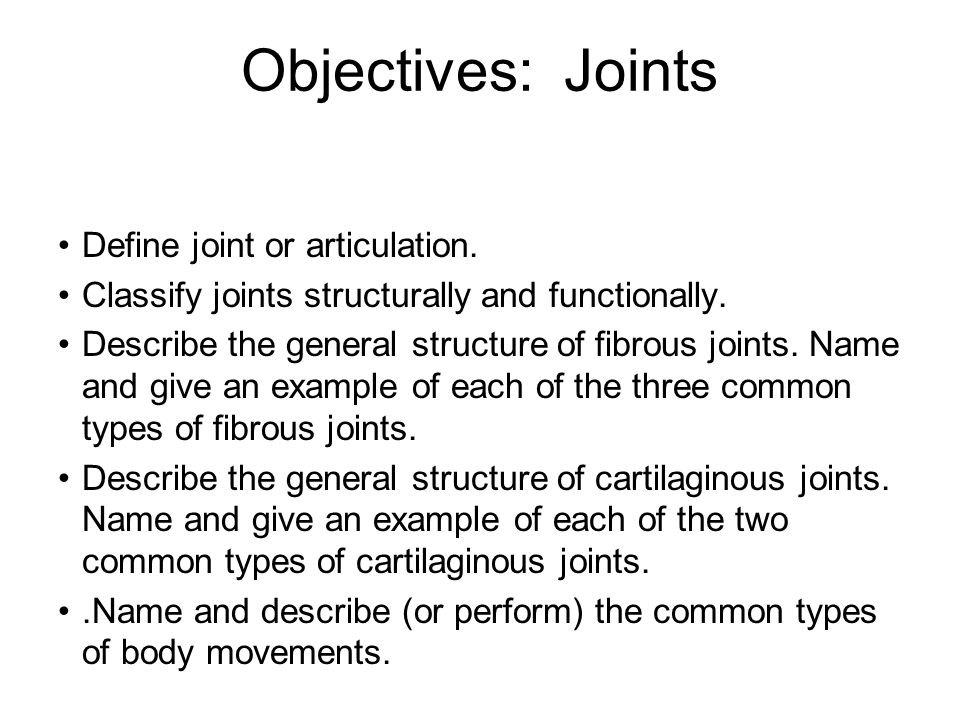 Cartilaginous Joints Bones united by cartilage No joint cavity Two types: –Synchondroses –Symphyses